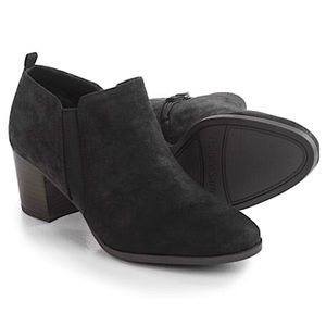 FRANCO SARTO | Black Leather Ankle Barrett Booties